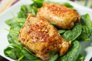 Chicken Thighs with Honey and Hot Pepper