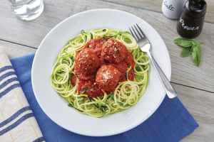Zucchini Spaghetti with Meatballs