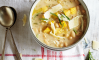 White Bean Soup with Polenta Croutons